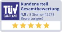 Auszeichnung von TÜV Saarland